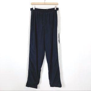 Vintage high waisted track pants zip 90s nylon